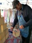 Richard Heaven making his foam friend